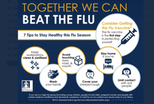 Together we can beat the flu infographic