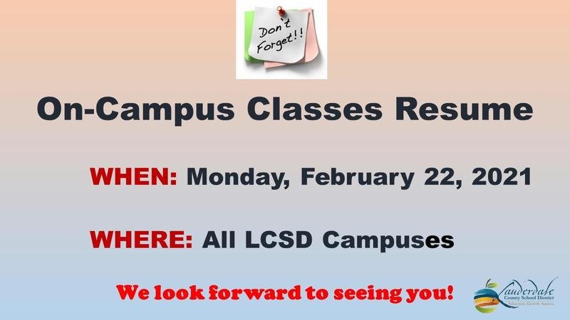 LCSD On-Campus Classes Resume Graphic