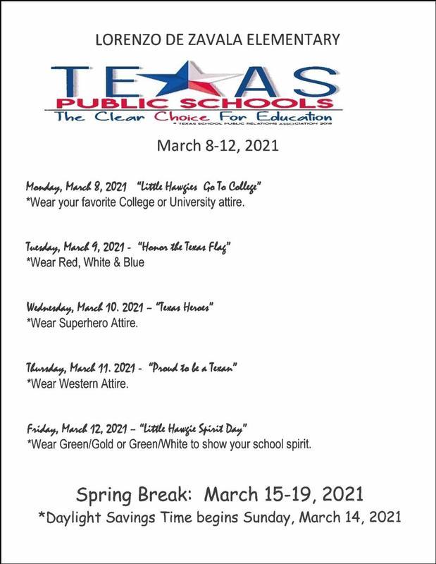 Texas Public Schools Week Schedule Featured Photo