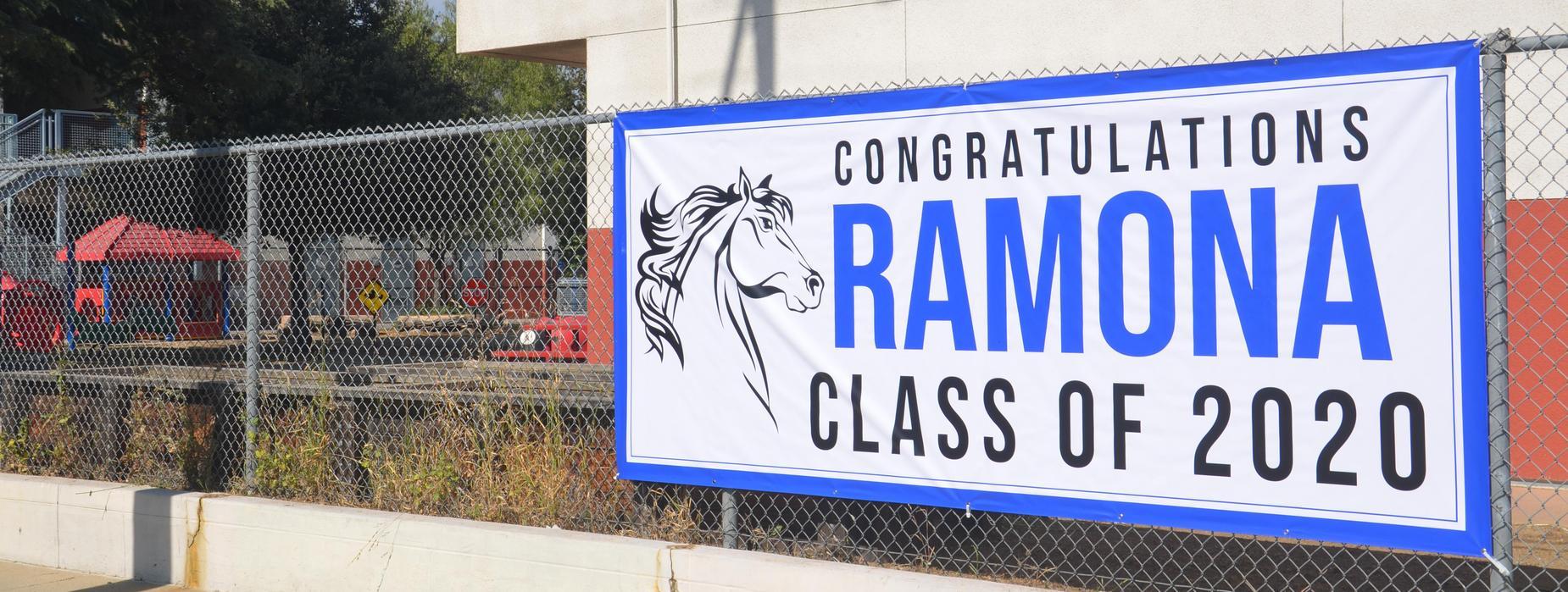 Ramona Class of 2020 Banner