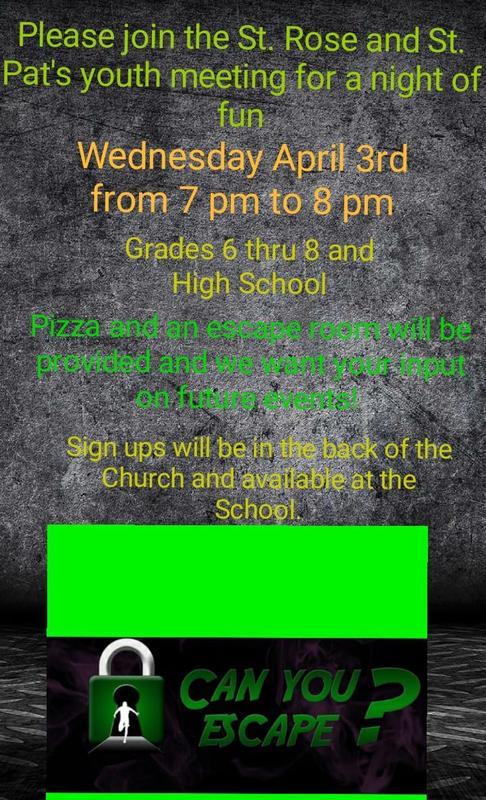 Youth Group Meeting April 3 from 7-8pm Featured Photo
