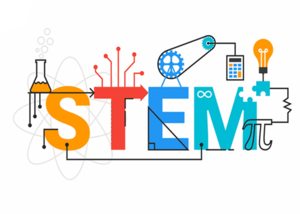 a graphic that says STEM