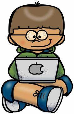 kid on a computer