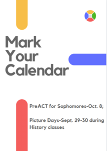 dates for PreACT and school pictures