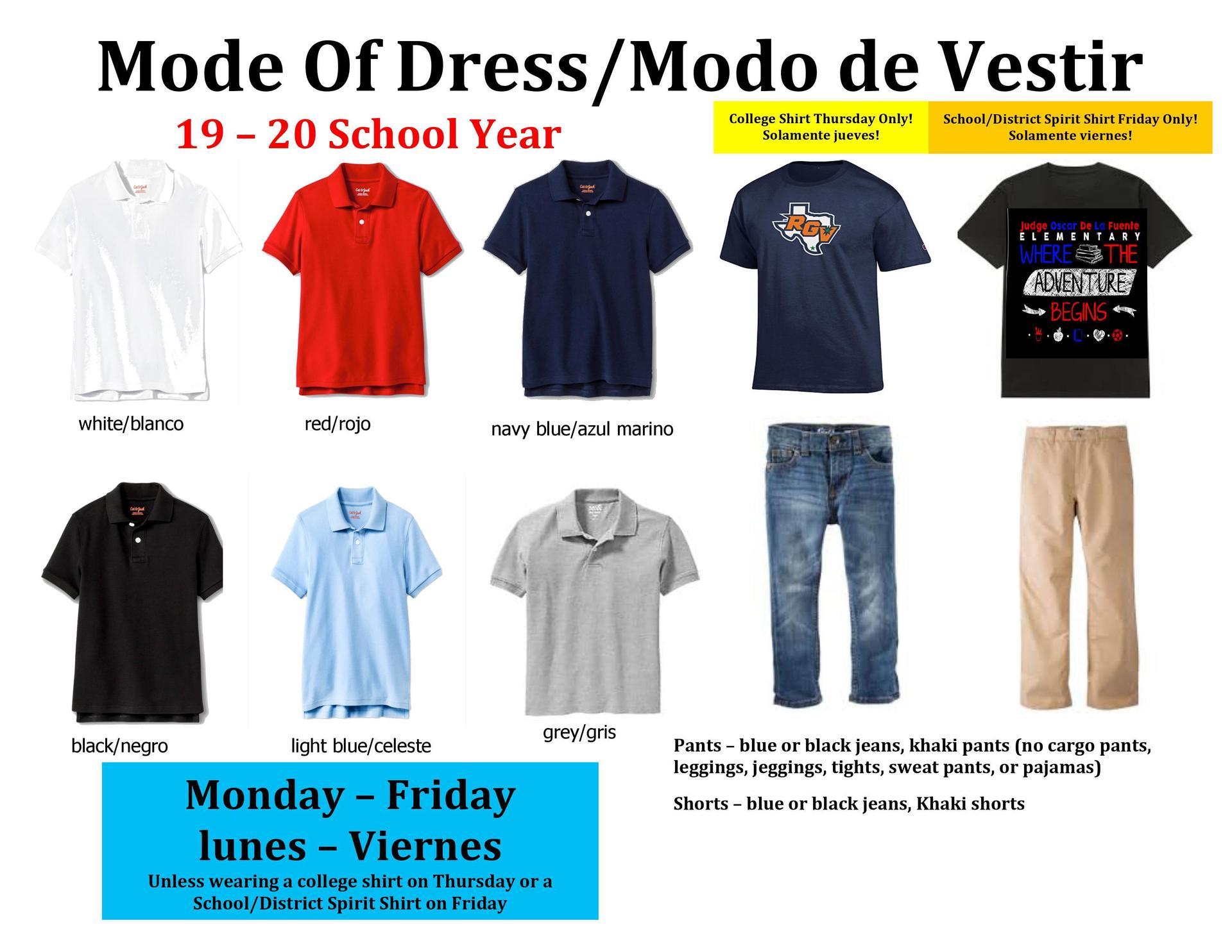 Mode of Dress