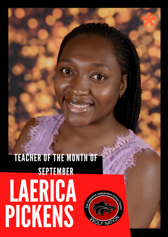 LaErica Pickens Photo Teacher of the Month September 2021