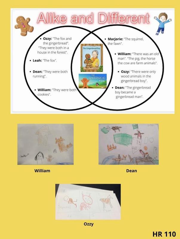 Alike and different venn diagram