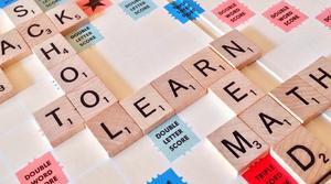Educational words on a Scrabble Board