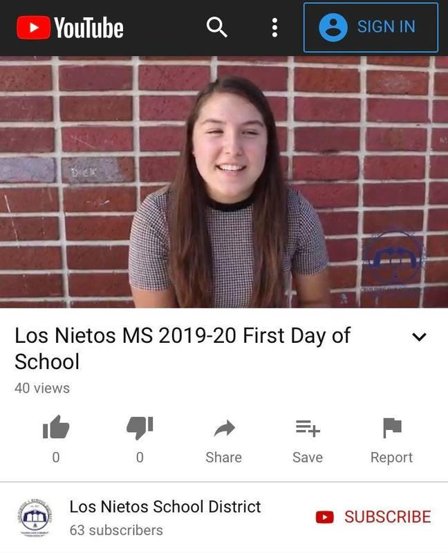 2019-20 First Day of School Featured Photo