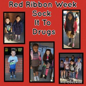 Drug-Free is the Way to Be! Our Tigers socked it to Drugs by wearing crazy socks!  #RedRibbonWeek #CityOfPomona #PomonaPD