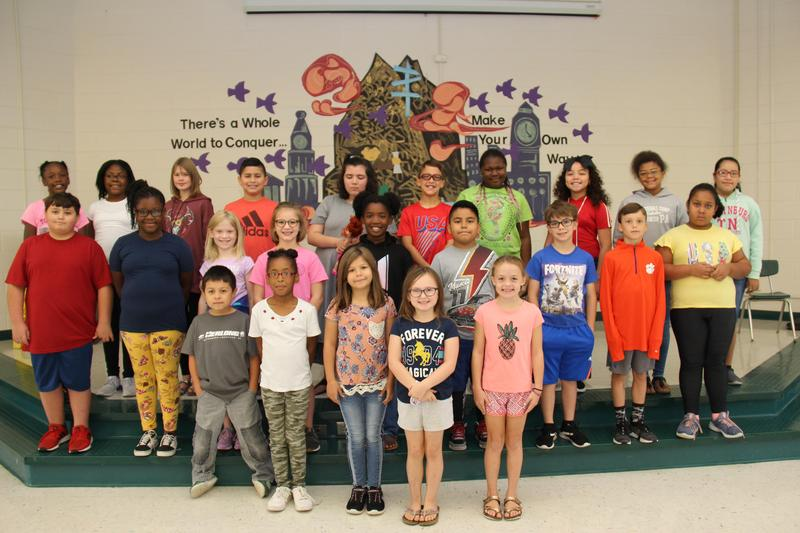 """Twenty-five students at B-L Elementary School were recently selected by the school's faculty members as displaying the character trait of """"Responsibility."""""""