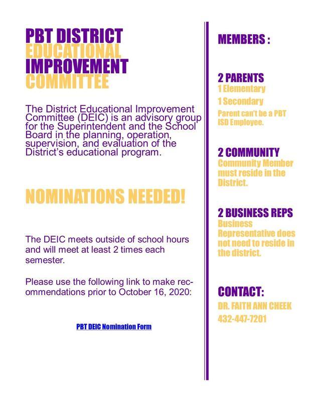 DEIC Nomination Flyer
