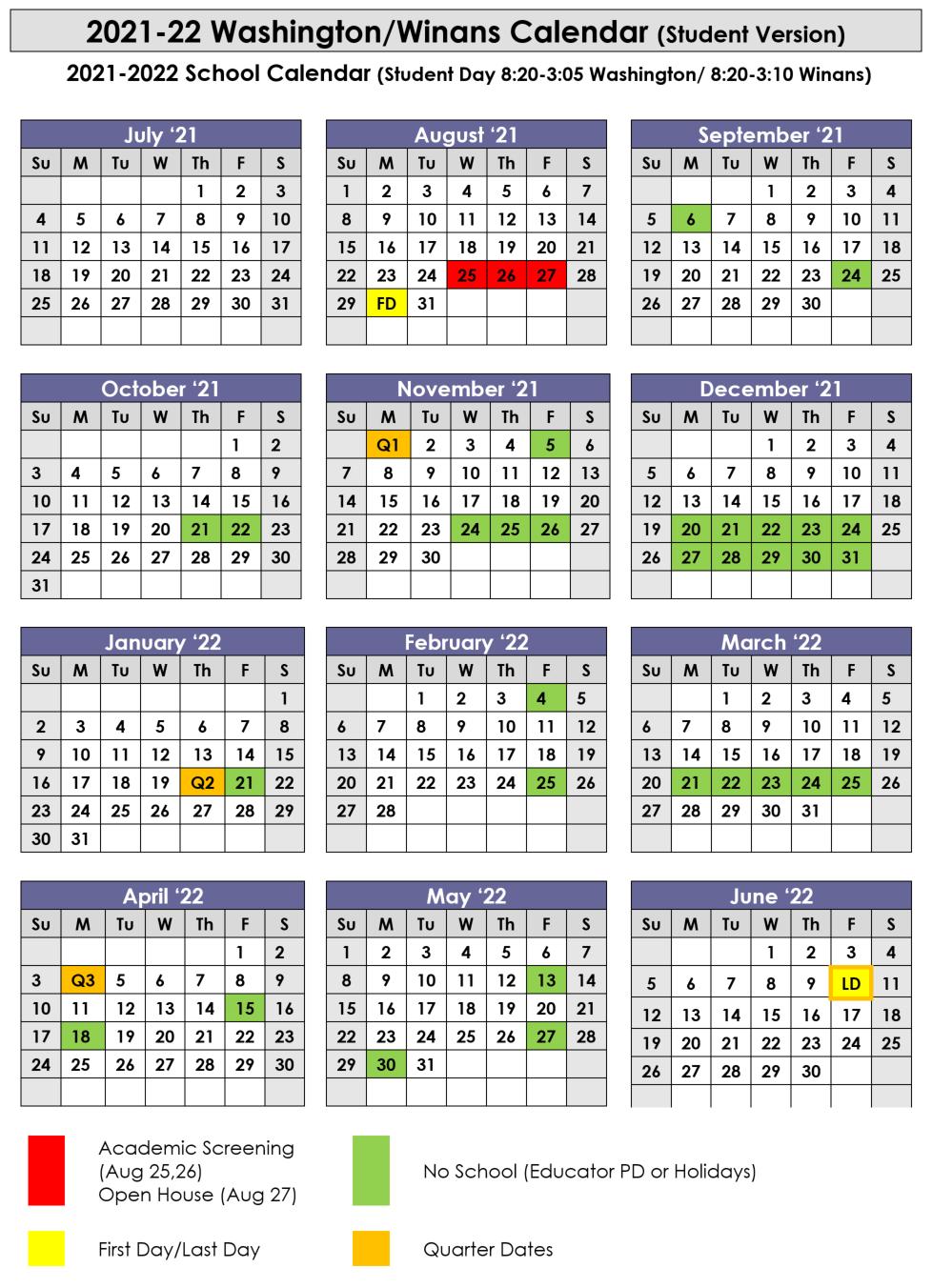 Winans Calendar