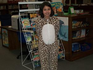 A students dressed up in pajamas.
