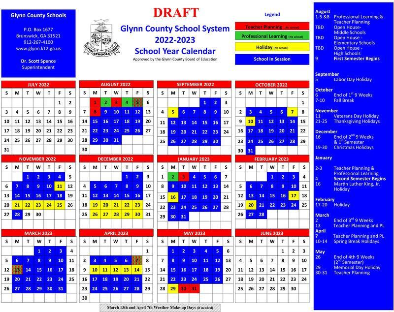 Proposed 2022-2023 SY Calendar