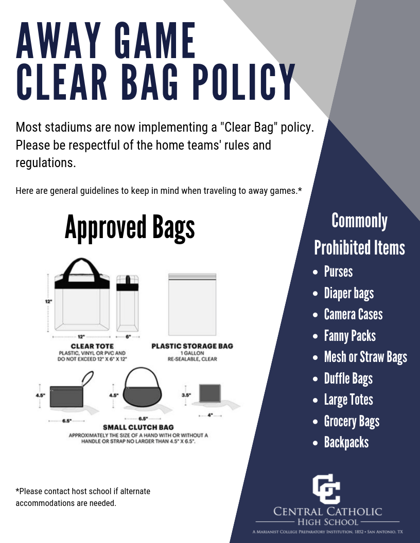 Away Game Clear Bag Policy