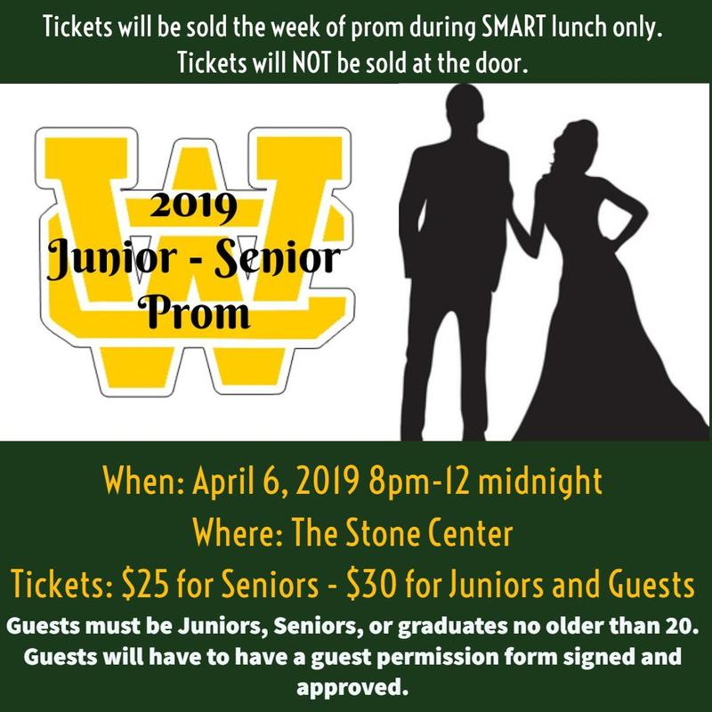 Click for 2019 Prom Information and Non-WCHS Guest Permission Form Thumbnail Image