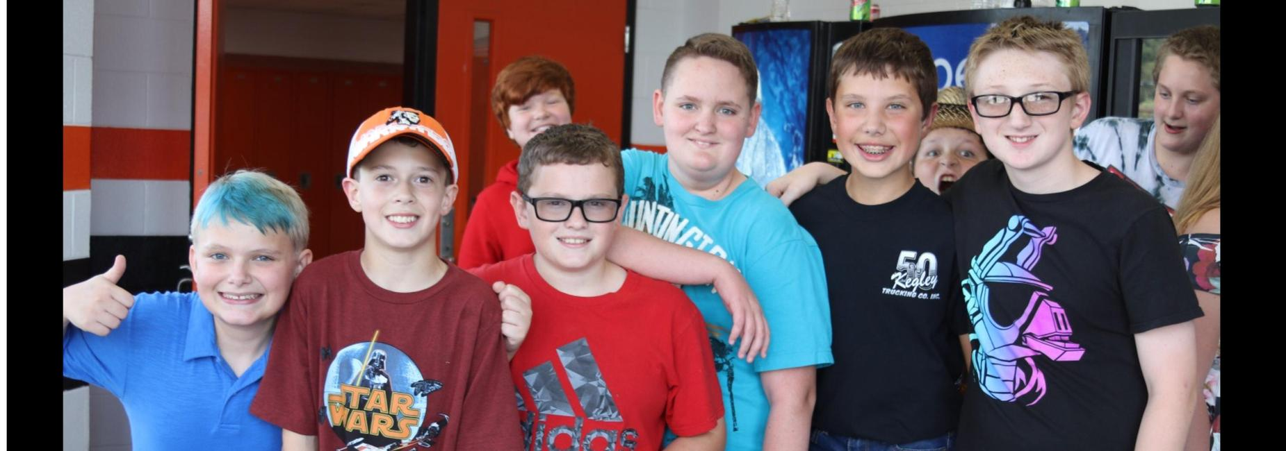 Group of friends at a dance