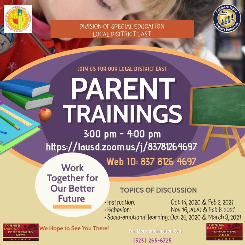 PARENT TRAININGS Featured Photo
