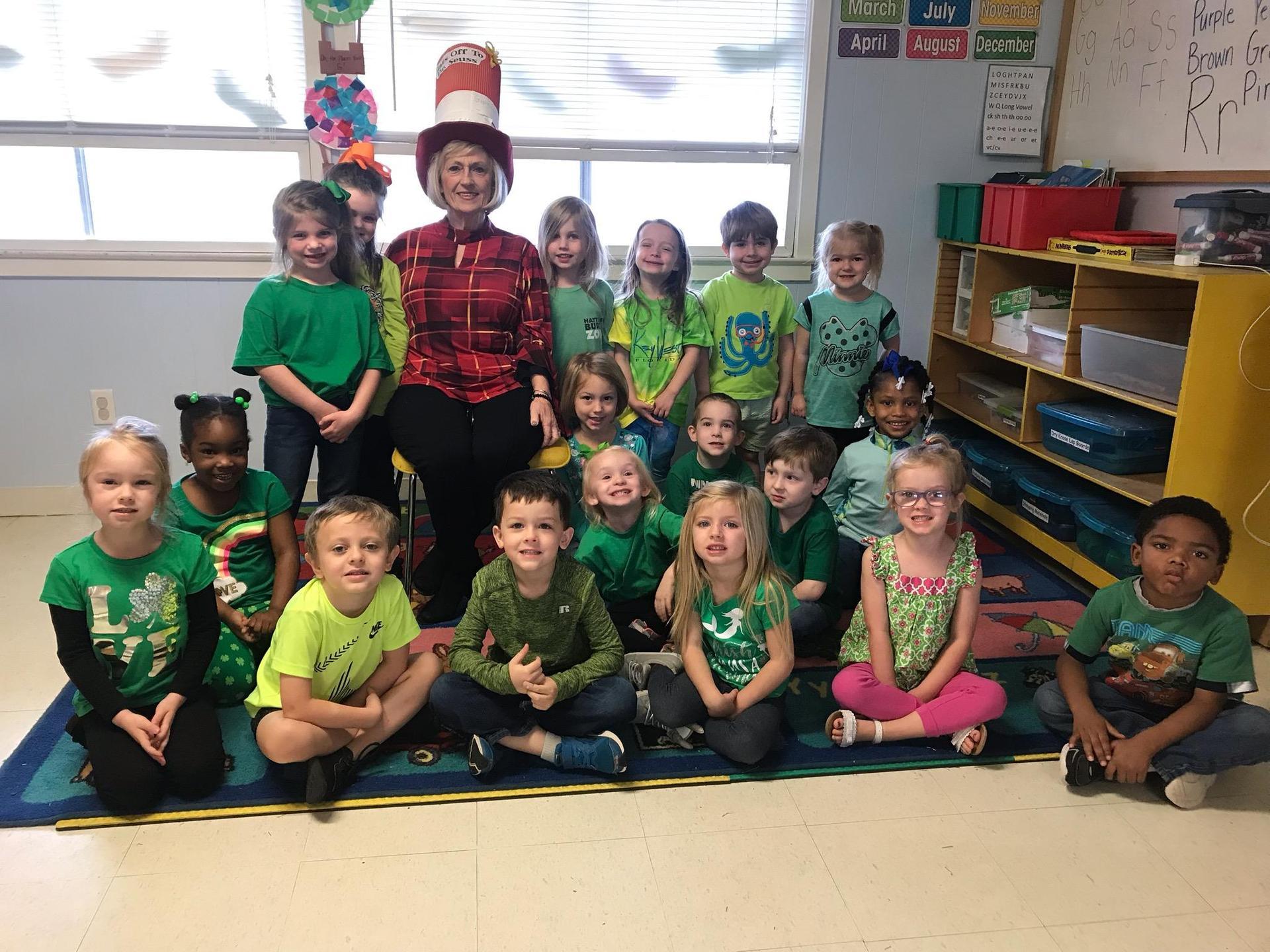 LCSD students celebrating Dr. Seuss Day