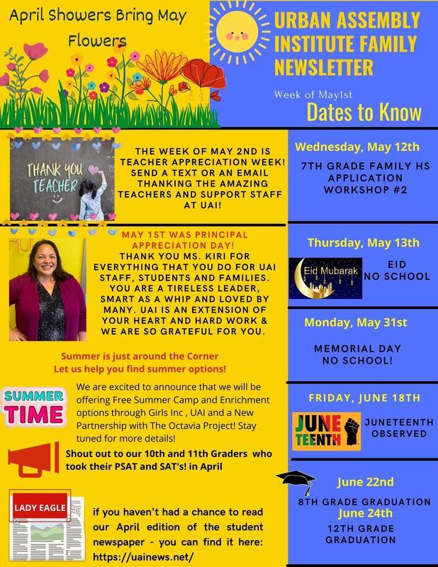 Week of May 1