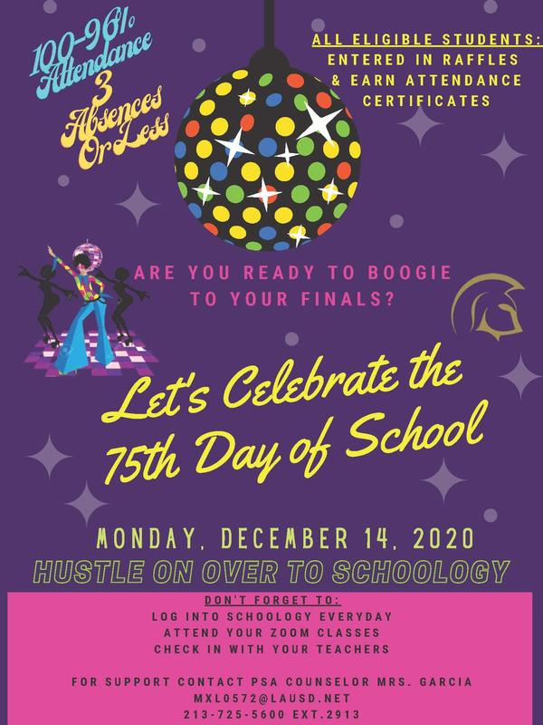 Let's Celebrate the 75th Day of School Thumbnail Image