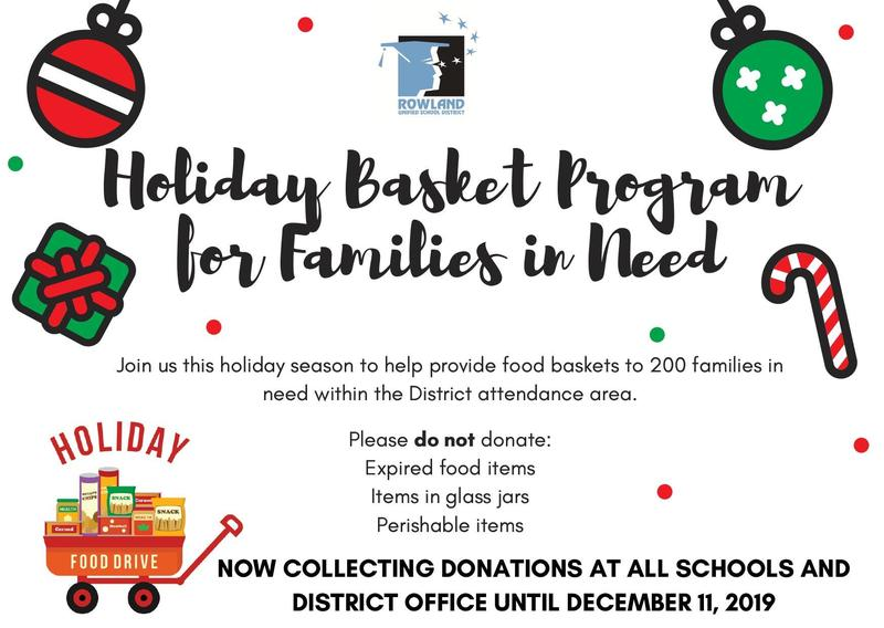 Canned Food Drive for RUSD Holiday Baskets Now Until Wed. Dec. 11 Thumbnail Image