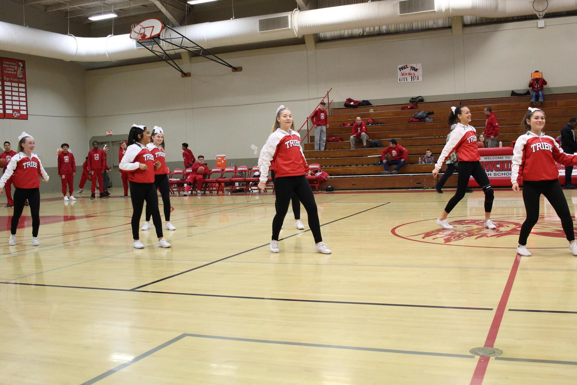 JV Cheer at Sierra basketball game