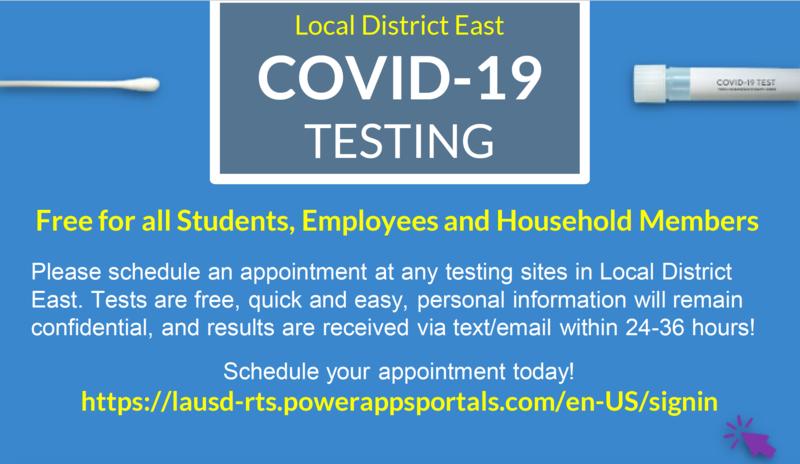 Free COVID-19 Testing/ Pruebas de COVID-19 Gratis Featured Photo