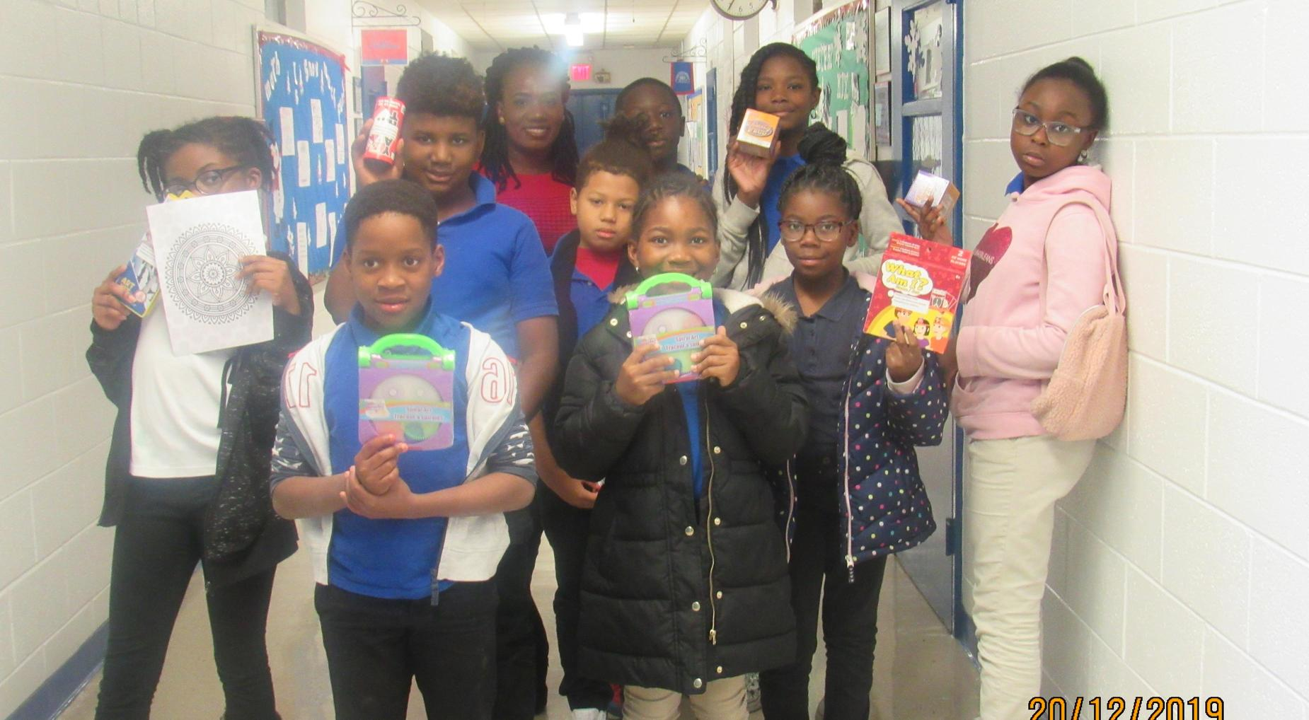 Season of Giving ~ Students received gifts