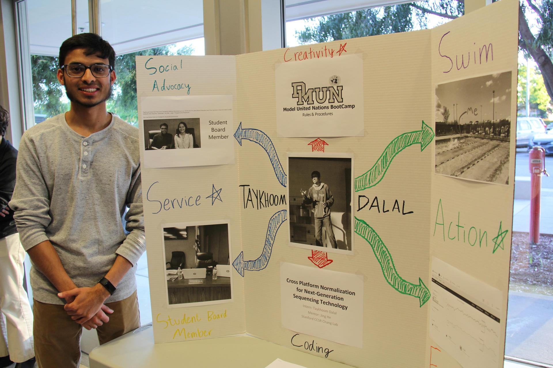 Image of IB Student - Taykhoom - showcasing his Creativity, Activity & Service experiences
