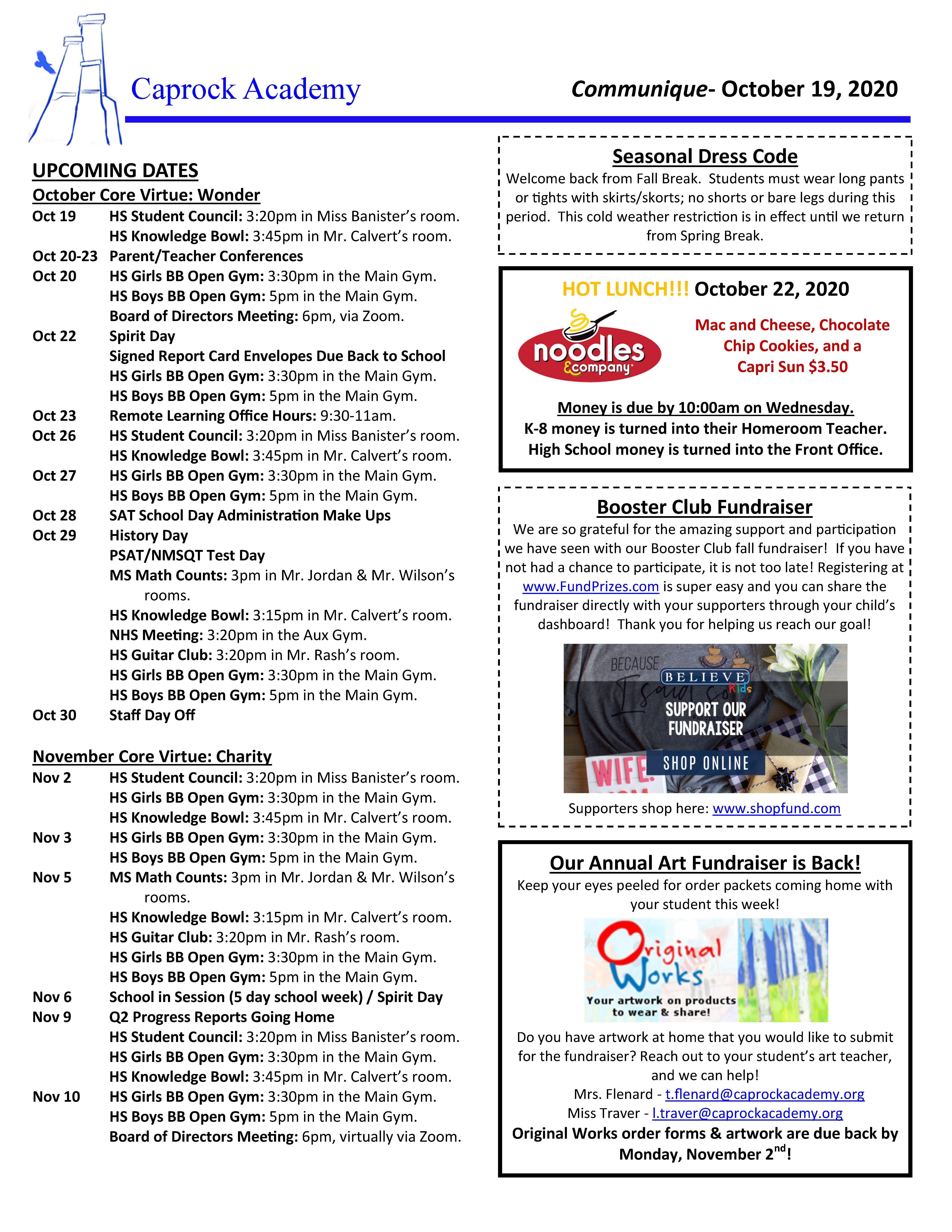 Communique 10-19-20 page 1 of 2