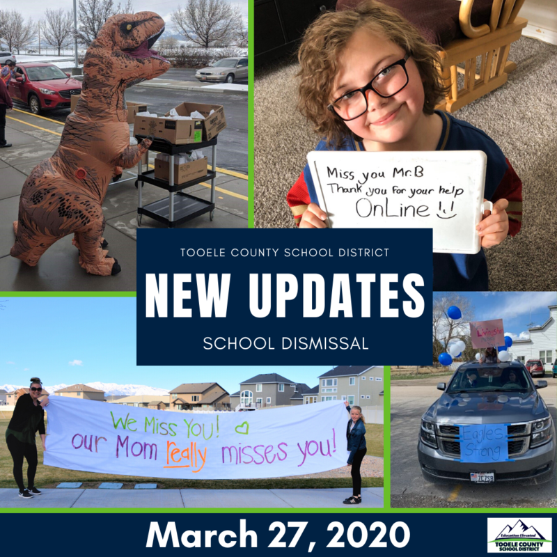 School Dismissal- New Updates March 27, 2020, 4 p.m. Thumbnail Image