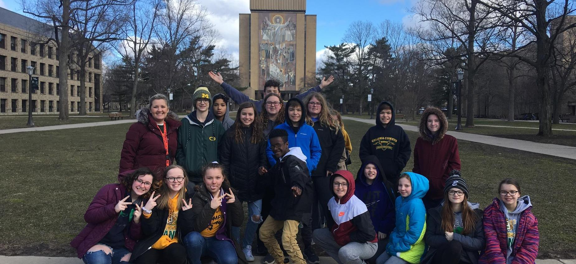 Honor Club visiting Notre Dame