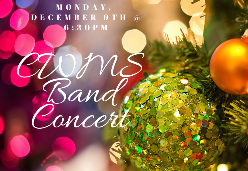 band concert on 12/9 at 6:30pm