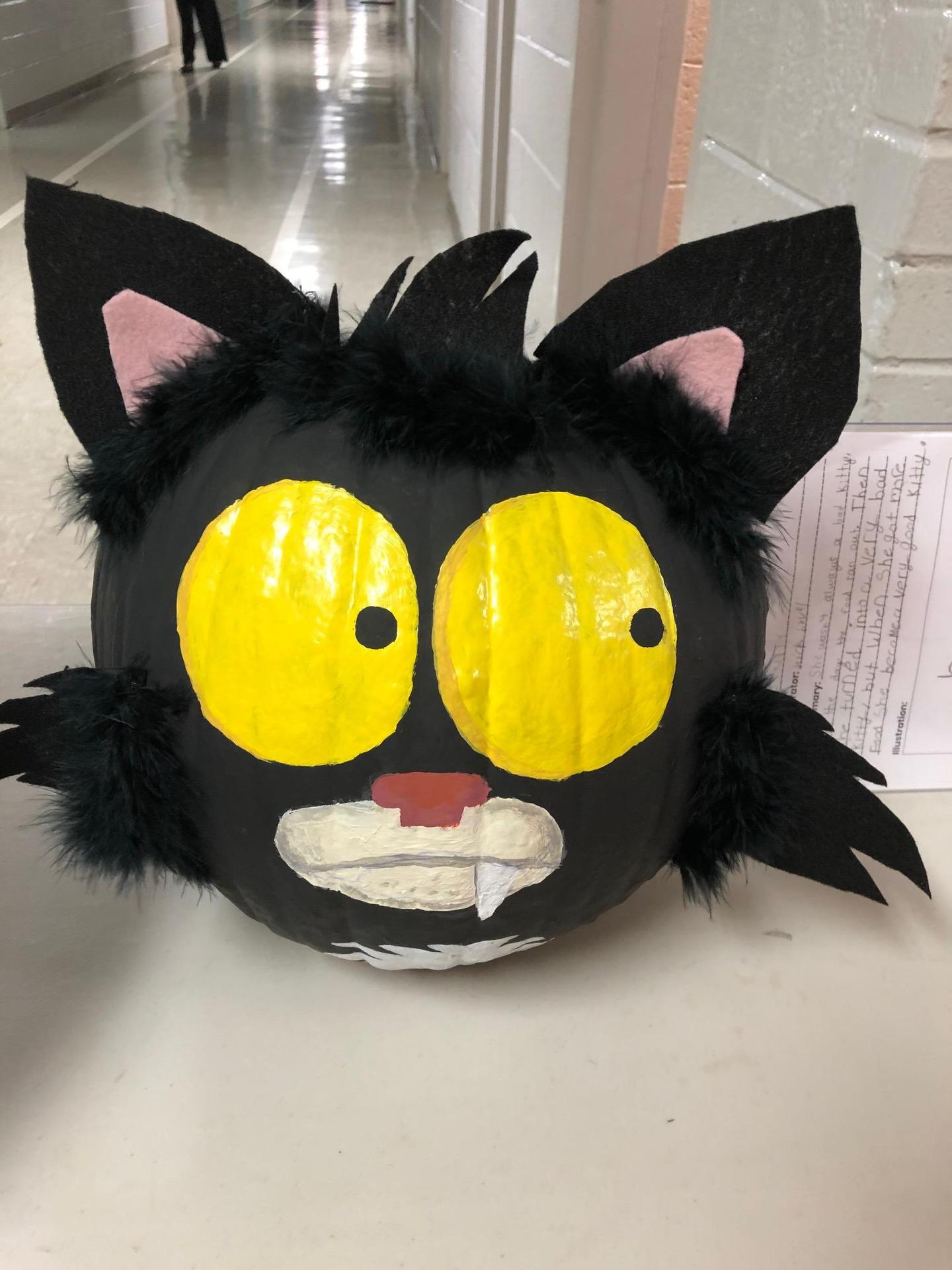 Bad Kitty pumpkin