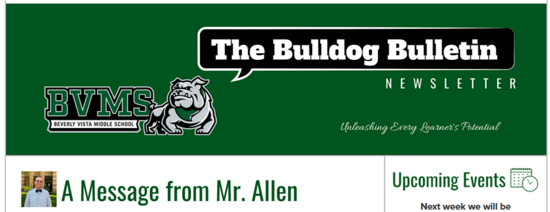 BVMS Newsletter- The Bulldog Bulletin March 24, 2021 Featured Photo