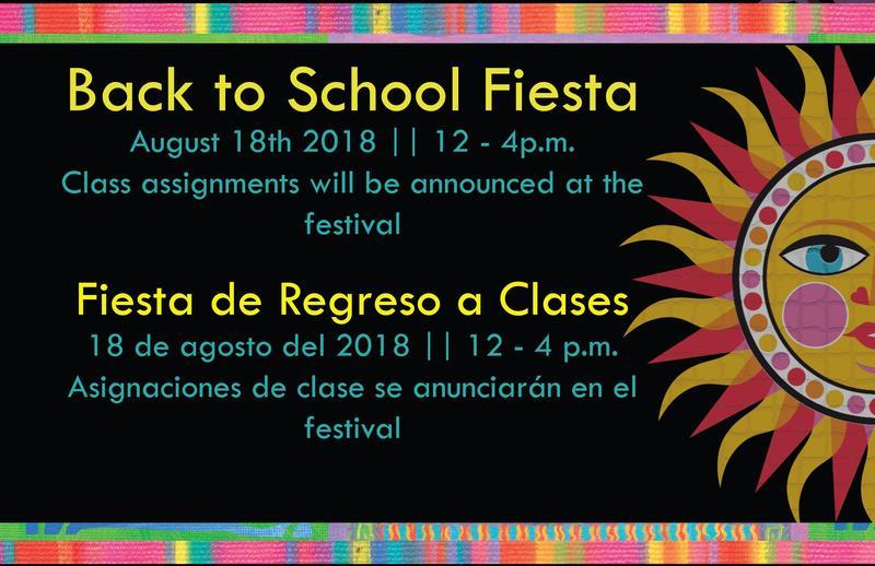 Back to School Fiesta / Fiesta de Regreso a Clases Thumbnail Image