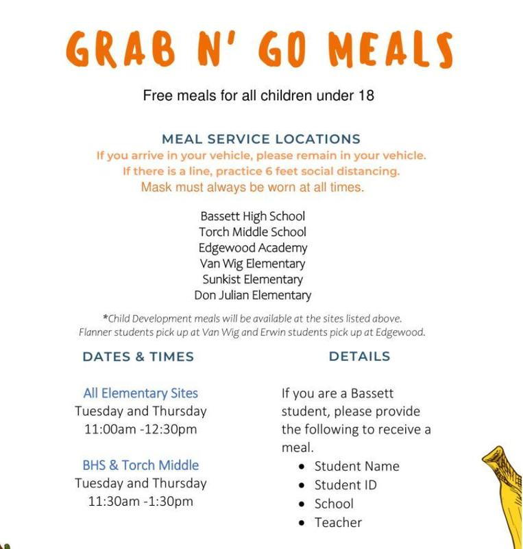 Grab and Go meals for students