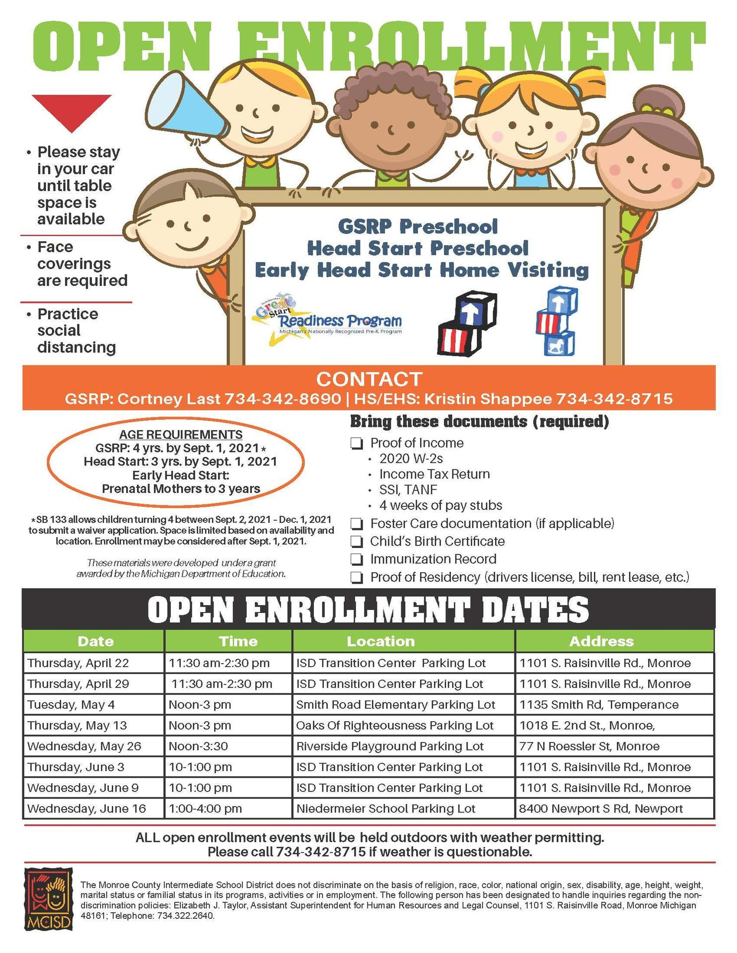 Preschool Enrollment Flyer
