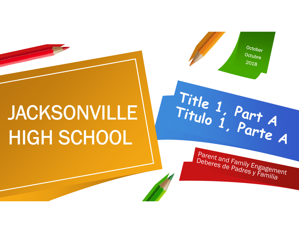 flyer for parent information for title 1