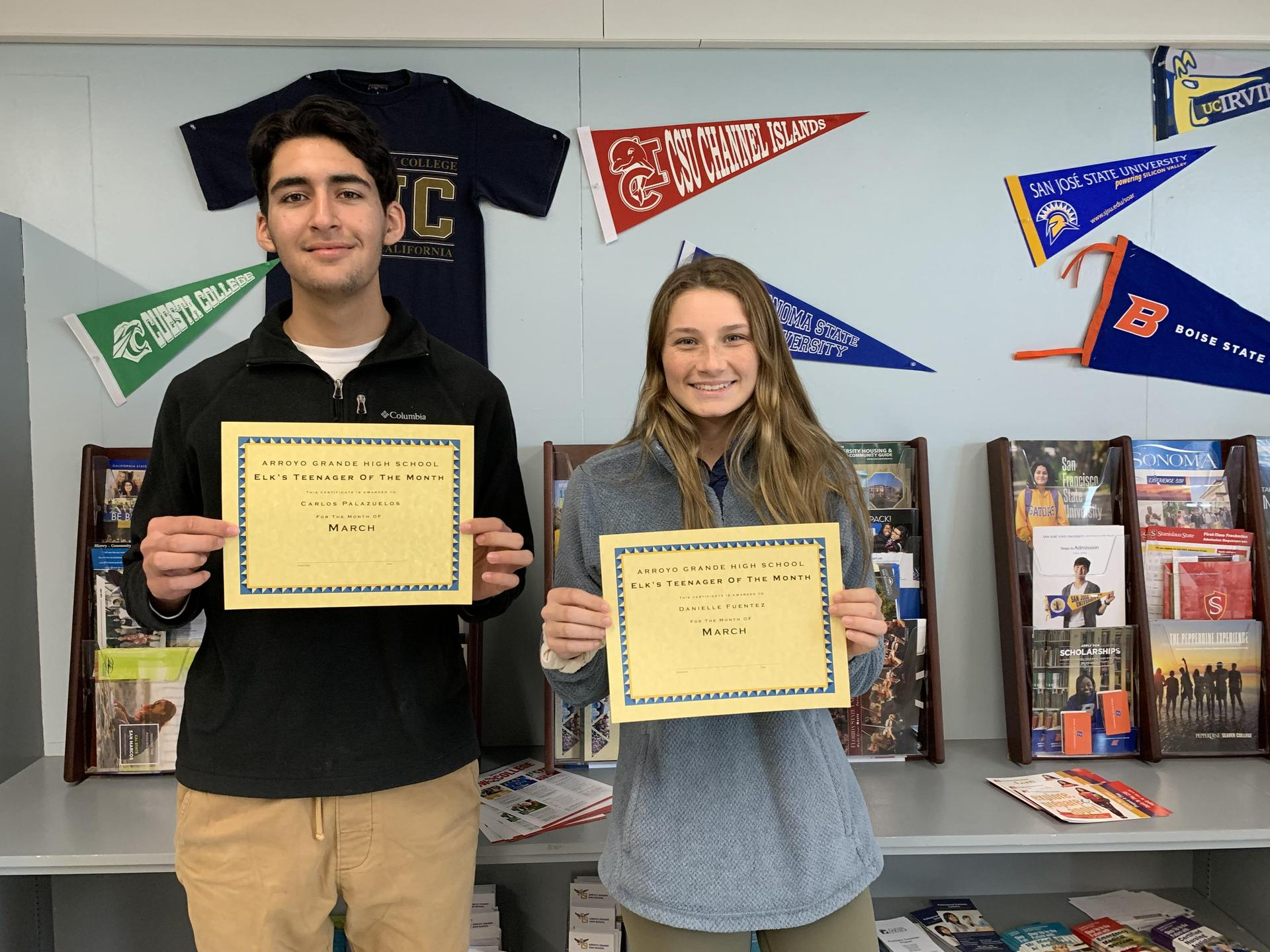 Elks teens of the Month