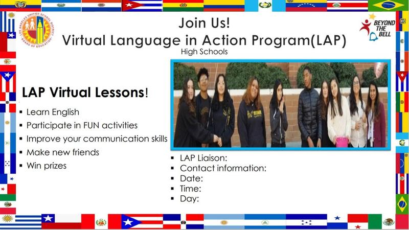 Virtual Language in Action Program - LAP Virtual Lessons! Featured Photo