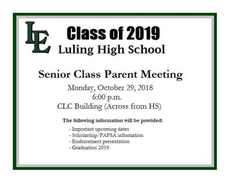 Senior Class Parent Meeting Thumbnail Image