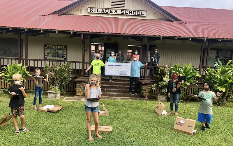 Chromebook donation from Kaua'i  North Shore Clubs.