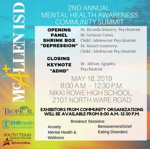 2nd Annual Mental Health Community Summit Flyer
