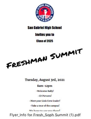 Freshmen, and Sophmore Summit! Featured Photo