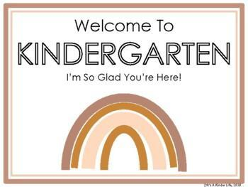 Welcome To Kindergarten Happy You Are Here Sign
