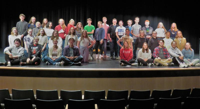 The TKHS cast and crew of the fall play
