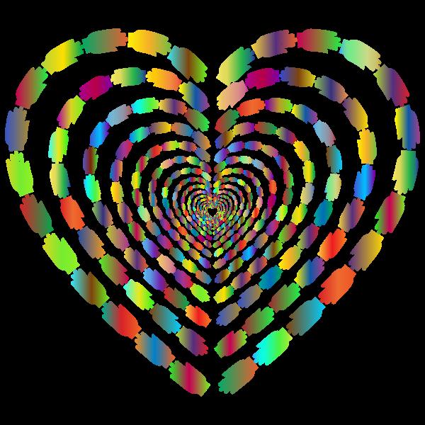 heart made of rainbow hands